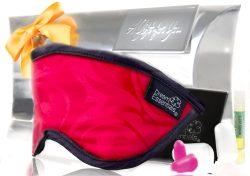 Luxury Mulberry Silk Sleep Mask Gift Set Red