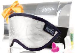 Luxury Mulberry Silk Sleep Mask Gift Set Silver