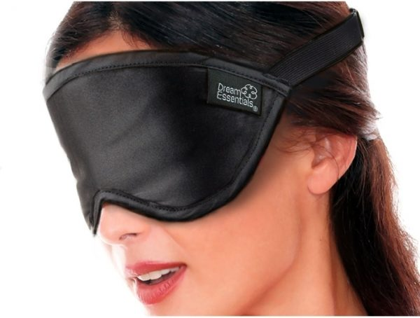 Luxury Silk Eye Mask Black