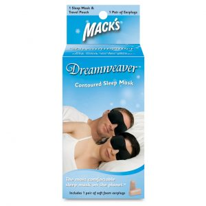 Dreamweaver Contoured Sleep Mask Set (FREE Earplugs & Carry Case)