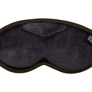 Luxury Black Opulence Plush Sleep Mask (FREE Earplugs)