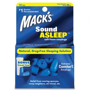 12 Pair Sound Asleep Foam Earplugs