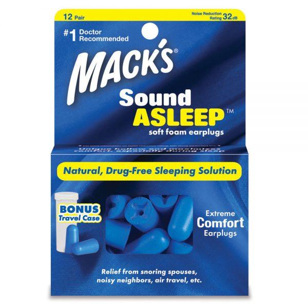 12 Pair Sound Asleep Foam Earplugs