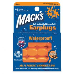 Mack's Childrens Pillow Soft Ear Plugs for Noise or Swimming Kids Size 6 Pair