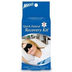 Macks Sleep Mask - Patient Recovery Kit - Ear Plugs - Carry Pouch