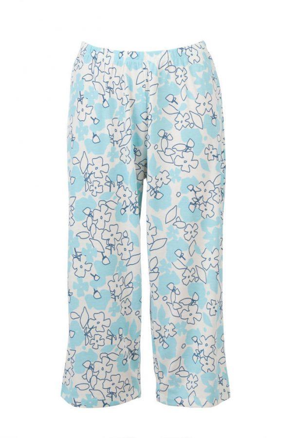 Floral PJ Pants 3/4 Menopause