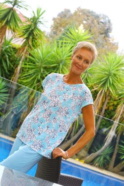 Floral Moisture Wicking Shorts for Menopause