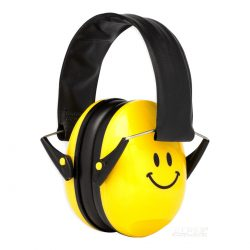 Yellow Alpine Muffy Kids Ear Muffs Smiley Face