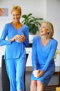 ladies in sleepwear for sweating