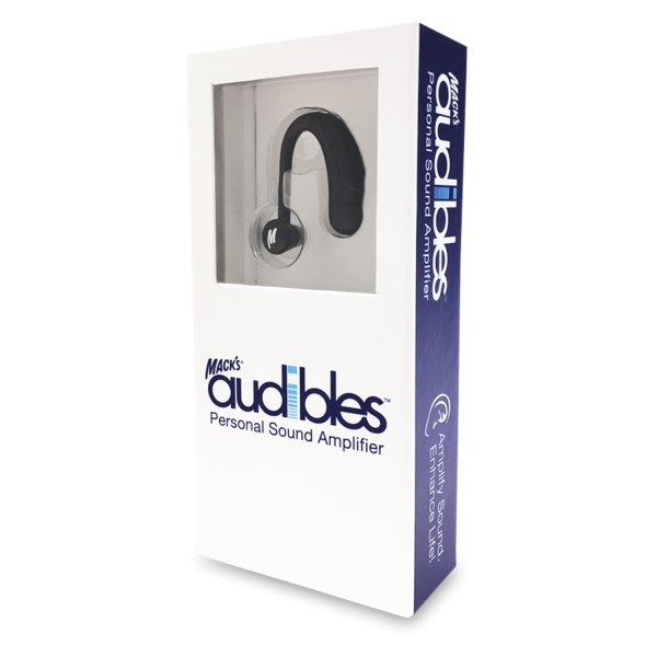 packaging for macks audible hearing device