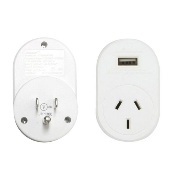 Outbound Travel Adaptor with 4 USB Fast Charging Outlets 3 Amp outlets Sleep and Sound USA Canada