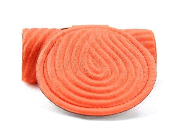 orange luggage tag for suitcase