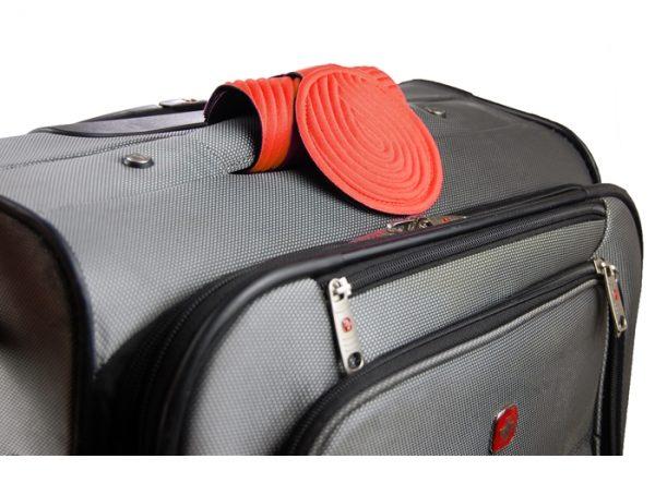 luggage tag for suitcase orange