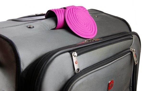 pink travel luggage tags