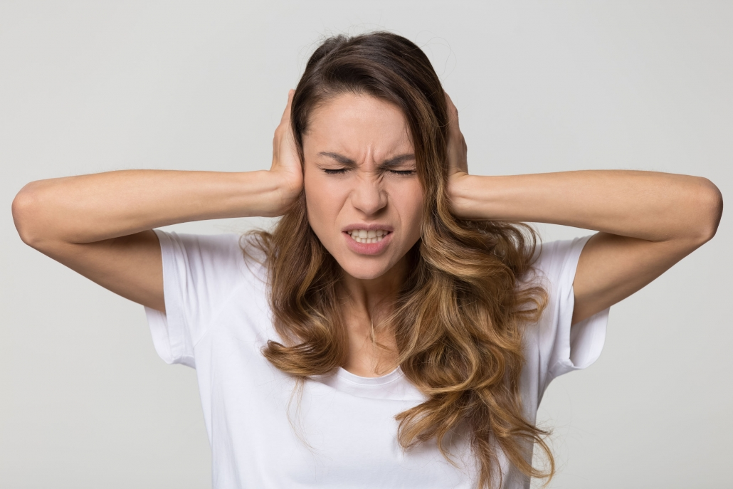 Woman Suffering from Tinnitus Sleep and Sound