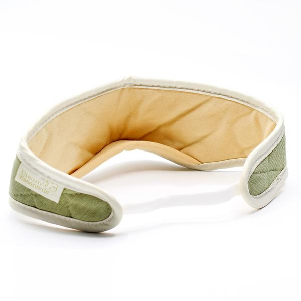 natural bamboo sleep mask olive coloured