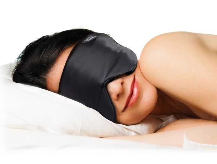 Pure Mulberry Silk Sleep Mask for Side Sleepers - Black