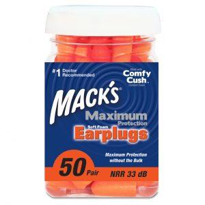 Macks Maximum Hearing Protection - 50 Pair - Soft Foam Earplugs