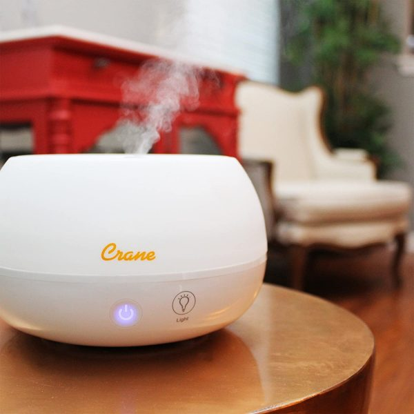 crane cool mist aromatherapy humidifier oil