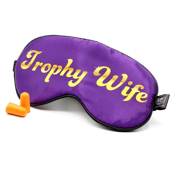 Trophy Wife Funny Text Sleep Mask