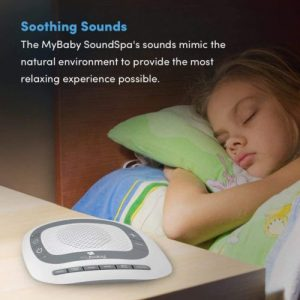 Girl Sleeping with My Baby Sound Spa Portable White Noise Machine