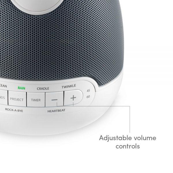 buttons on homedics baby sound spa lullaby white noise