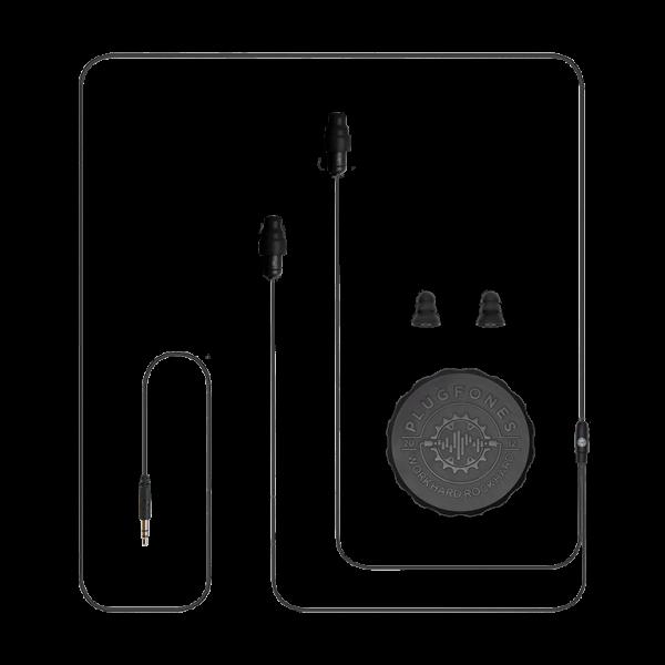 black plugfones cable