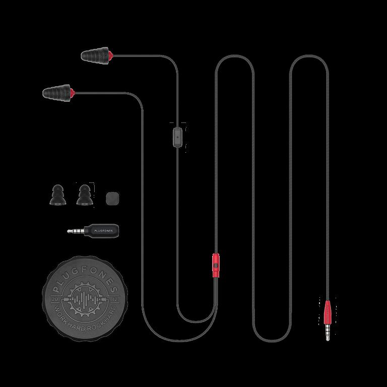 Plugfones Protector Industrial Earplug Headphones No Mic