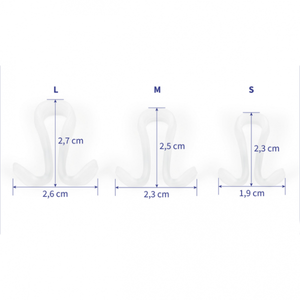 Clipair Nasal Device Sizes