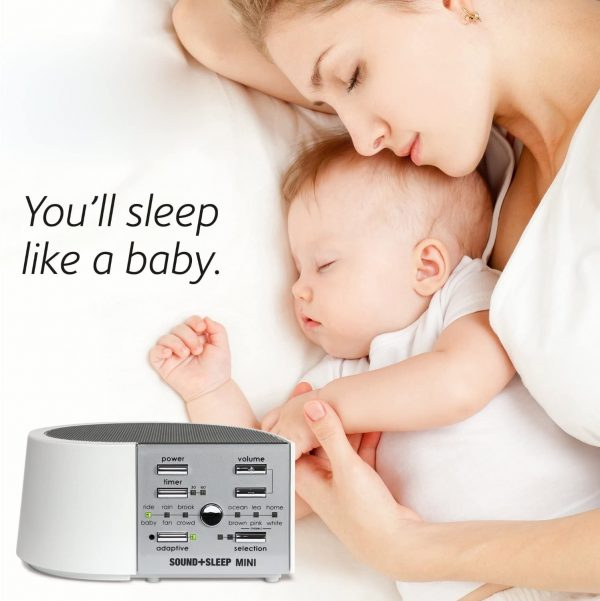 mother and child sleeping like a baby with sleep + sound white noise machine