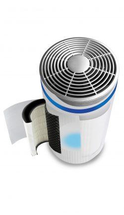 inside of total clean 5 in 1 air purifier