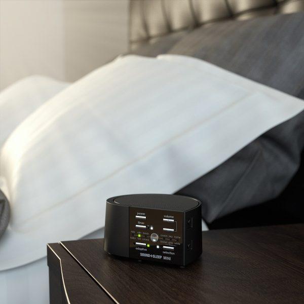 Sound plus Sleep Mini Hi Fi White Noise Machine Bedside Table