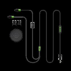 Plugfones Protector PLUS Green Black Industrial Earplugs with Headphones