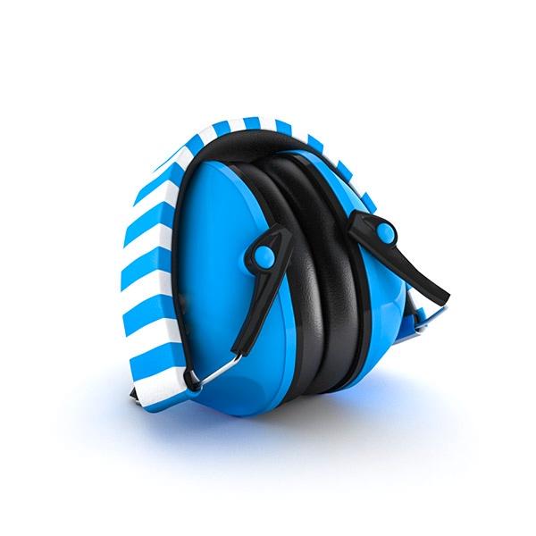 Striped Blue Earmuffs