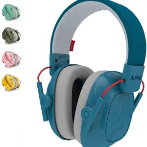 kids blue coloured earmuff