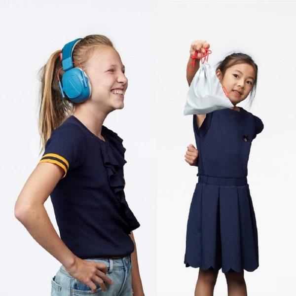 kids blue earmuff cover