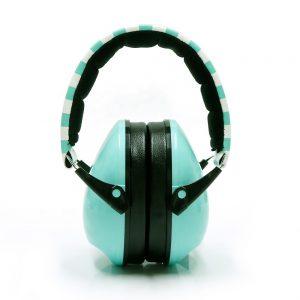 Aqua Striped Earmuff Headband