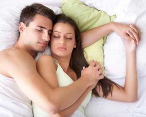 man and lady sleeping