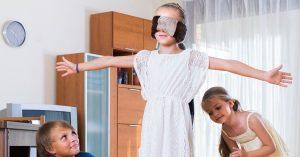 kids blindfolded