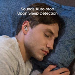 Man Sleeping with Amazfit ZenBuds