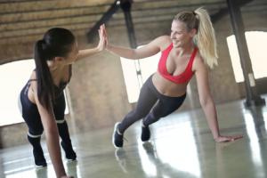 ladies exercising