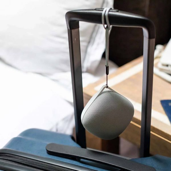 Yogasleep Portable White Noise on Luggage